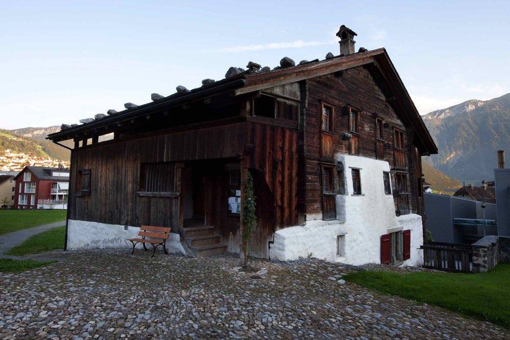 Foto de la casa de madera más antigua conocida