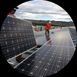 Foto de una instalación fotovoltaica